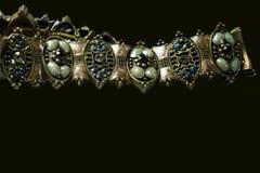 Bracelete isolado no preto Fotografia de Stock Royalty Free