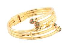 Bracelete japonês do ouro foto de stock