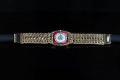 Bracelete maciço dos homens do ouro amarelo Fotografia de Stock Royalty Free