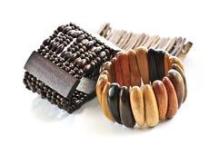 Braceletes de madeira Imagens de Stock