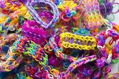 Braceletes do elástico fotografia de stock