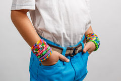 Braceletes do tear Imagem de Stock Royalty Free