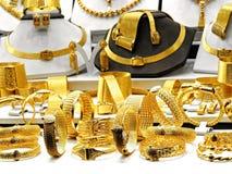 Braceletes dourados Fotos de Stock Royalty Free