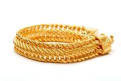 Braceletes dourados Fotografia de Stock Royalty Free