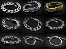Braceletes para homens e mulheres Imagem de Stock Royalty Free