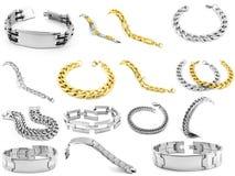 Braceletes para homens e mulheres Imagens de Stock Royalty Free