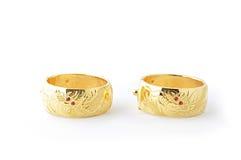 Braceletes tradicionais do ouro Fotografia de Stock Royalty Free