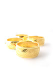 Braceletes tradicionais do ouro Imagem de Stock