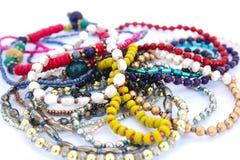 Bracelets. Isolated on white background Royalty Free Stock Photo