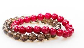 Bracelets accessoire fait main, minerais, cadeau avec du charme d'agate de collection d'hiver photos libres de droits
