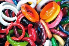 Bracelets acryliques Images libres de droits