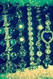 Bracelets argentés avec la zircone photo stock
