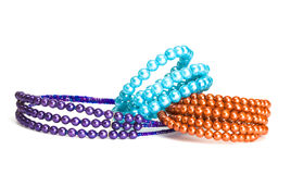 Bracelets and beads Stock Images