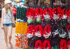 Woman at Chinatown market, Singapore Royalty Free Stock Image