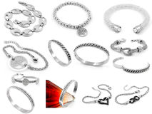 Bracelets - Big set Royalty Free Stock Image
