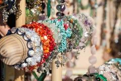 Bracelets colorés Photographie stock libre de droits