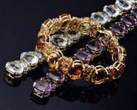 Bracelets colorés opales Photo libre de droits