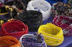 Bracelets colorés Photographie stock