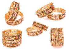 bracelets d'or Images stock