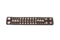 Bracelets de cuir de style de roche Image libre de droits