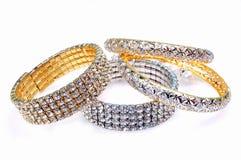 Bracelets de diamant Photographie stock libre de droits