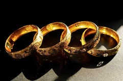 Bracelets de mariage de chinois traditionnel Photos libres de droits