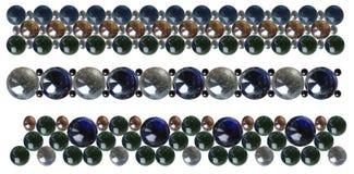 Bracelets de perles en verre Photos stock