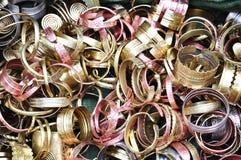 Bracelets en laiton Photos libres de droits