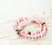 Bracelets fabriqués à la main de quartz Photos stock