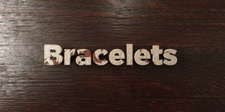 Bracelets - grungy wooden headline on Maple  - 3D rendered royalty free stock image Royalty Free Stock Image