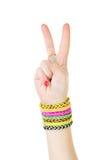 Bracelets on hand Stock Photography