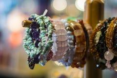 The bracelets on a hanger Stock Photography