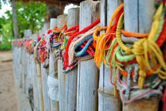 Bracelets honoring the victums of the killing fields of Cambodia Stock Image