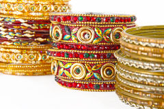 Bracelets indiens traditionnels Photographie stock
