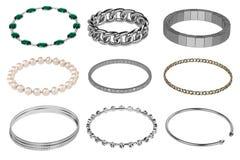 Bracelets (jewelry). 3d render of bracelets (jewelry Stock Images