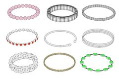 Bracelets (jewels) Stock Photography