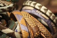 Bracelets made by local women in the Okavango Delta in Botswana Stock Photos