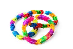 Bracelets made with rubber bands Royalty Free Stock Photo