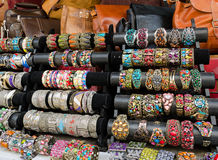 Bracelets at market royalty free stock photo