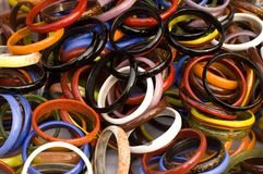 Bracelets in the market Stock Image