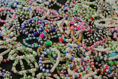 Bracelets at a market stall . Royalty Free Stock Photography