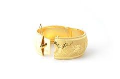 Bracelets traditionnels d'or Images libres de droits