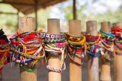 Bracelets for the victims of the killing fields of Cambodia. Phnom Penh royalty free stock images