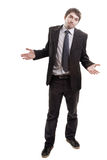 Brach den Geschäftsmann, der um Lösungen oder Rat bittet Lizenzfreies Stockfoto