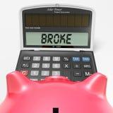 Brach Taschenrechner-Show-Kredit-Problem und Schuld lizenzfreie abbildung