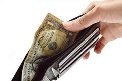 Brach und schlechte Geldbörse Stockbilder