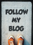Brache mein Blog Stockfotografie