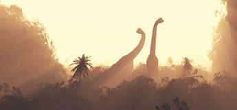 Brachiosaurusów dinosaury Obrazy Stock