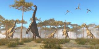Free Brachiosaurus Browsing Stock Image - 55787461