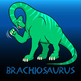 Brachiosaurus cute character dinosaurs Royalty Free Stock Photography